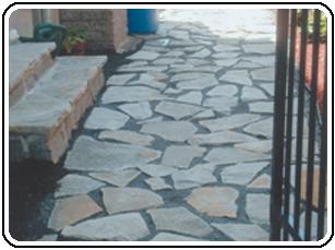 troittoir en pierres naturelles